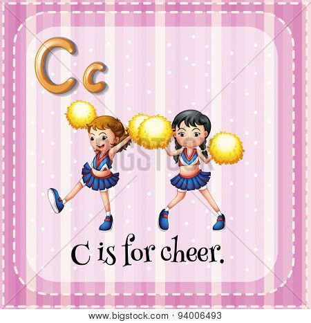 Flashcard letter C is for cheer