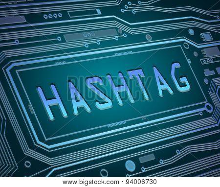 Hashtag Concept.