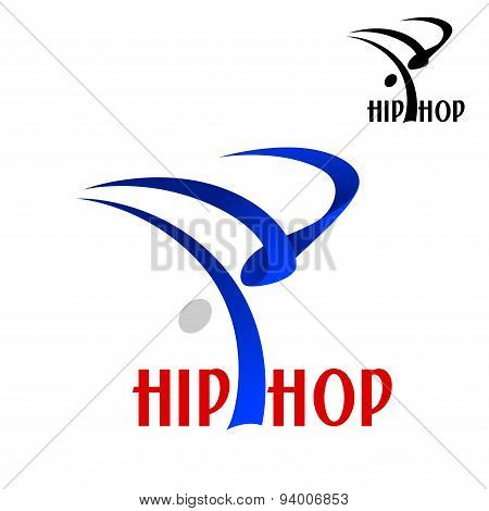 Hip hop dancer sporting emblem