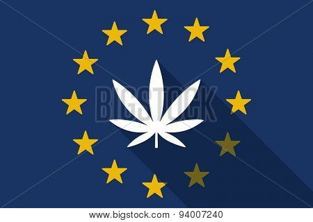 European Union With A Marijuana Leaf