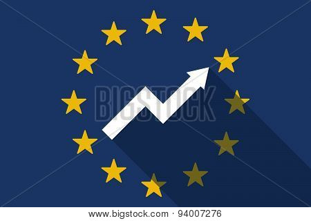 European Union  Long Shadow Flag With A Graph