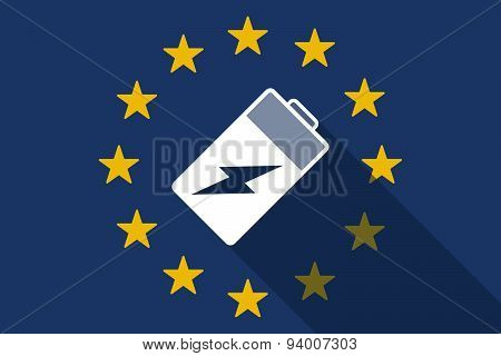 European Union  Long Shadow Flag With A Battery
