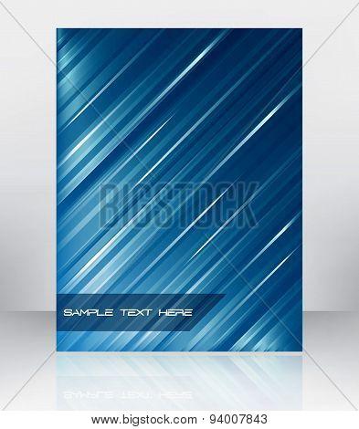 Business flyer template, brochure or cover design. Vector illustration.