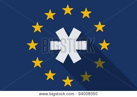 European Union Long Shadow Flag With An Astrerisk