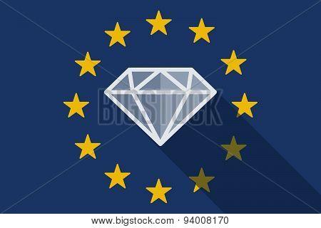 European Union  Long Shadow Flag With A Diamond