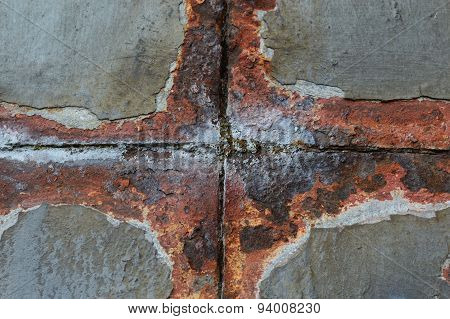 Rusty metal detail