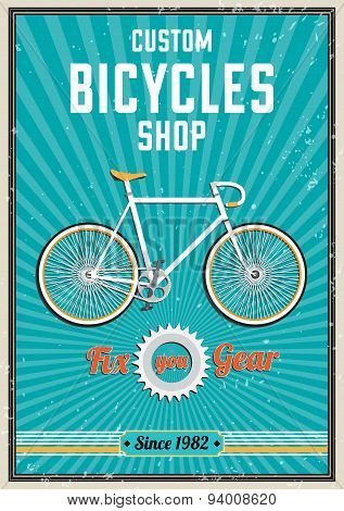 Fixed Gear Bike Poster Design.