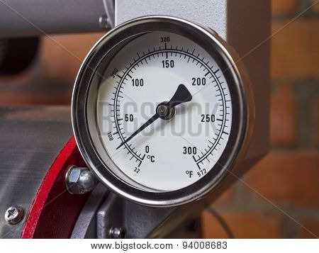 Pressure Gauge Meter Installed Industrial Tool Equipment