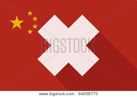 China Long Shadow Flag With An Irritating Substance Sign