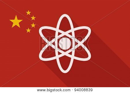 China Long Shadow Flag With An Atom