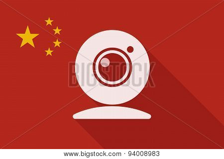 China Long Shadow Flag With A Web Cam