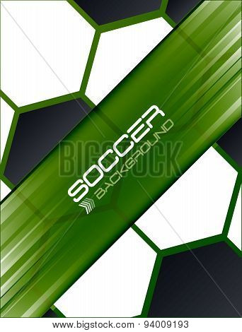 Soccer background, vector illustration.