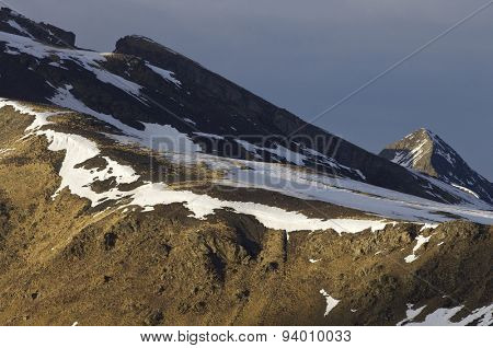 peaks in Pyrenees mountains, Huesca, Aragon, Spain.
