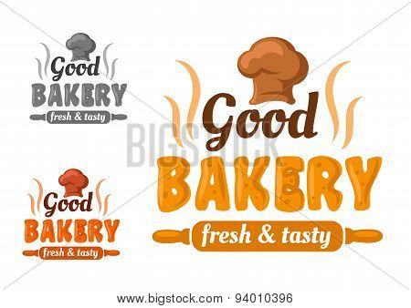 Fresh and tasty bakery emblem