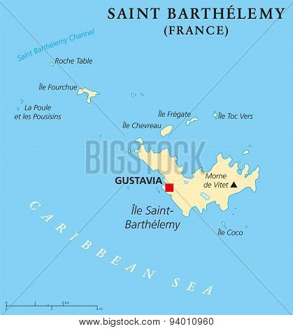 Saint Barthelemy Political Map