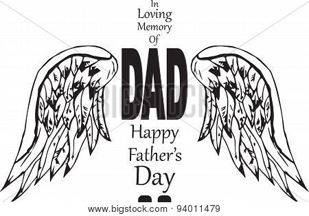 In memory of dad happy fathers day