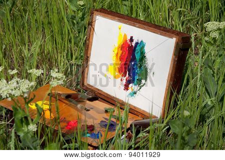 Abstract Painting On A Painter's Case