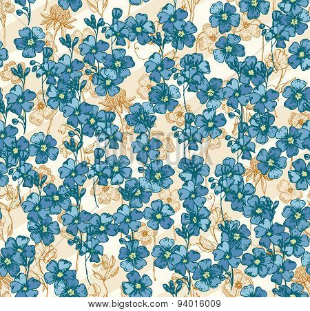 Stylish spring bright floral seamless pattern