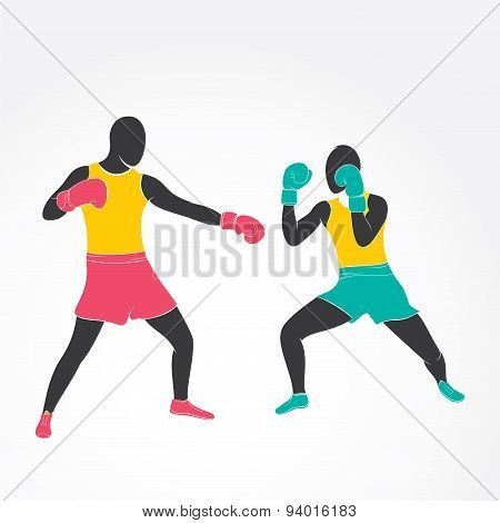 boxing game design vector