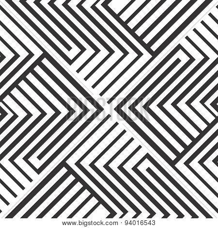 Seamless background in zigzag stripes