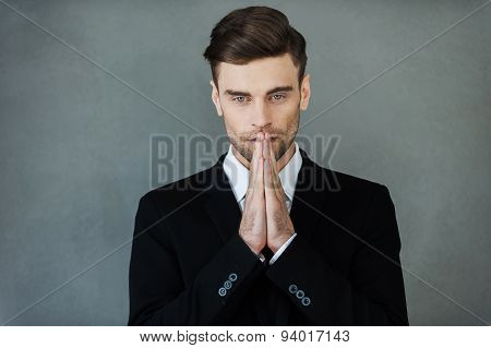 Businessman Praying.