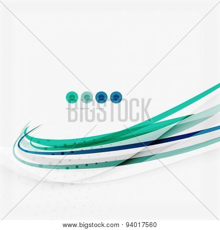 Blue and green color abstract waves, abstract background