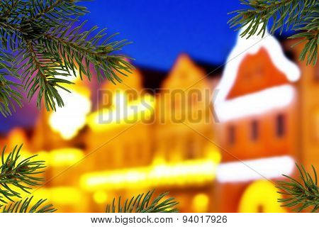Buildings With Christmas Decoration