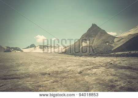 Mountain Peak And Glacier