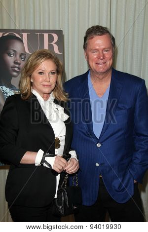LOS ANGELES - JAN 11:  Kathy Hilton, Rick Hilton at the DuJour Magazine Honors Lupita Nyong'o at the Mondrian LAs on January 11, 2014 in Los Angeles, CA