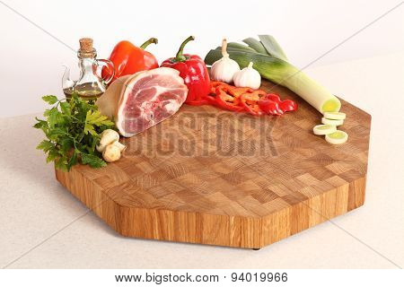 Meat On A Chopping Board