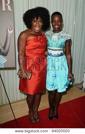 LOS ANGELES - JAN 11:  Uzo Aduba, Lupita Nyong'o at the DuJour Magazine Honors Lupita Nyong'o at the Mondrian LAs on January 11, 2014 in Los Angeles, CA