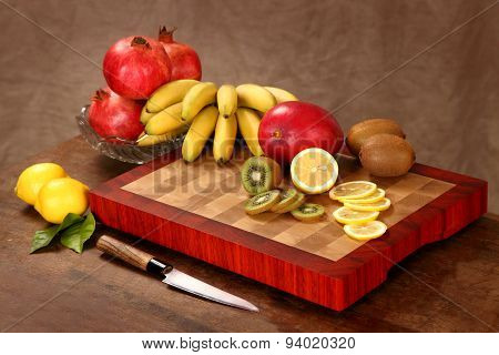 Fruit On A Chopping Board