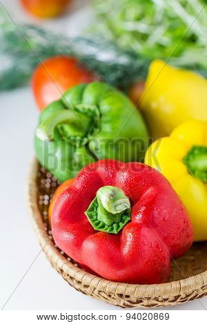 Colored Paprika (pepper)