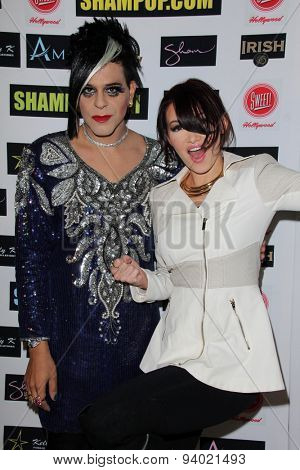 LOS ANGELES - JUN 4:  Sham Ibrahim, Emii at the Celebrity Selfies Art Show by Sham Ibrahim at the Sweet! Hollywood on June 4, 2015 in Los Angeles, CA