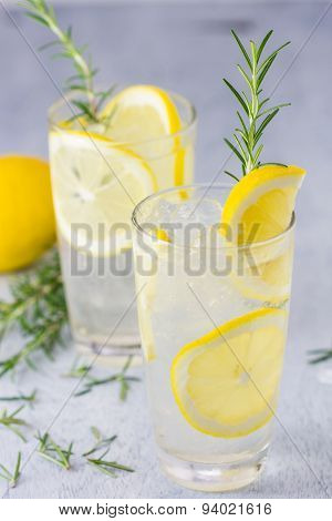 Lemonade With Fresh Lemon And Rosemary