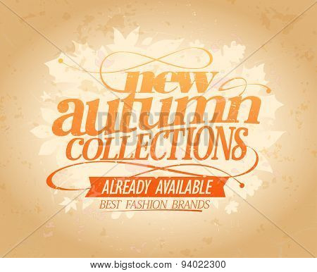 New autumn collections already available design, retro style. Eps10