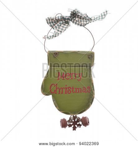 christmas wooden decorations - wooden glove