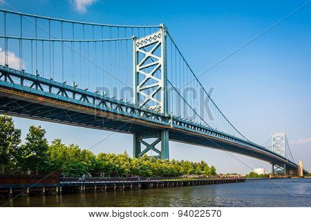 The Benjamin Franklin Bridge, In Philadelphia, Pennsylvania.