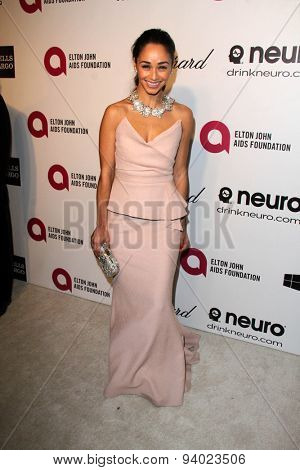 LOS ANGELES - MAR 3:  Cara Santana at the Elton John AIDS Foundation's Oscar Viewing Party at the West Hollywood Park on March 3, 2014 in West Hollywood, CA