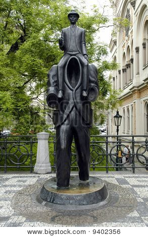 The monument of Franz Kafka
