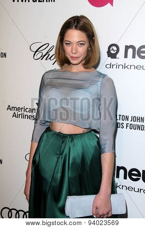 LOS ANGELES - MAR 3:  Analeigh Tipton at the Elton John AIDS Foundation's Oscar Viewing Party at the West Hollywood Park on March 3, 2014 in West Hollywood, CA