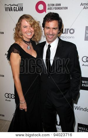 LOS ANGELES - MAR 3:  Janet McCormack, Eric McCormack at the Elton John AIDS Foundation's Oscar Viewing Party at the West Hollywood Park on March 3, 2014 in West Hollywood, CA