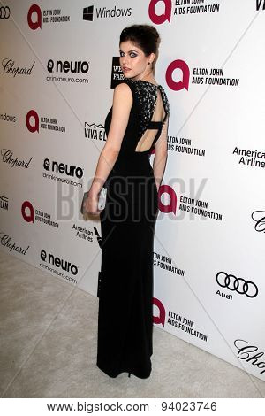 LOS ANGELES - MAR 3:  Alexandra Daddario at the Elton John AIDS Foundation's Oscar Viewing Party at the West Hollywood Park on March 3, 2014 in West Hollywood, CA