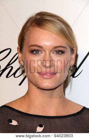 LOS ANGELES - MAR 3:  Leven Rambin at the Elton John AIDS Foundation's Oscar Viewing Party at the West Hollywood Park on March 3, 2014 in West Hollywood, CA