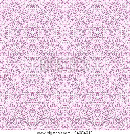 Beautiful pink ornamental background. Vector illustration