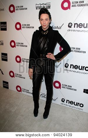 LOS ANGELES - MAR 3:  Johnny Weir at the Elton John AIDS Foundation's Oscar Viewing Party at the West Hollywood Park on March 3, 2014 in West Hollywood, CA