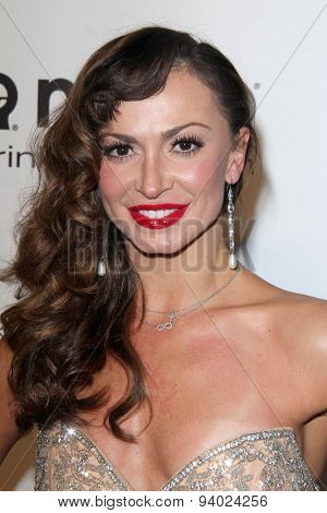 LOS ANGELES - MAR 3:  Karina Smirnoff at the Elton John AIDS Foundation's Oscar Viewing Party at the West Hollywood Park on March 3, 2014 in West Hollywood, CA