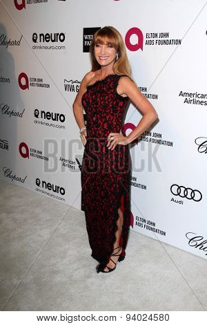 LOS ANGELES - MAR 3:  Jane Seymour at the Elton John AIDS Foundation's Oscar Viewing Party at the West Hollywood Park on March 3, 2014 in West Hollywood, CA