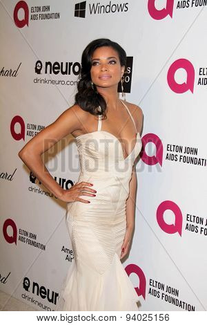 LOS ANGELES - MAR 3:  Rochelle Aytes at the Elton John AIDS Foundation's Oscar Viewing Party at the West Hollywood Park on March 3, 2014 in West Hollywood, CA