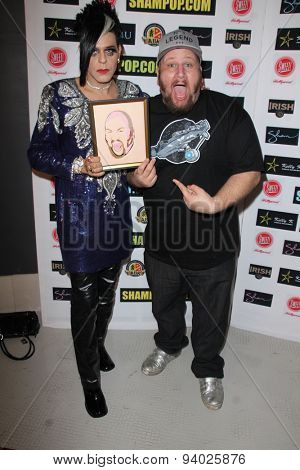 LOS ANGELES - JUN 4:  Sham Ibrahim, Stephen Kramer Glickman at the Celebrity Selfies Art Show by Sham Ibrahim at the Sweet! Hollywood on June 4, 2015 in Los Angeles, CA